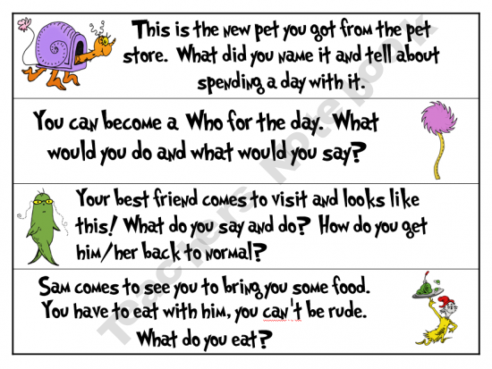 story starters kindergarten Spring-theme teaching ideas for kindergarten & early primary posted on march 17th, 2011 by carolyn hart in free printable rhymes, songs and fingerplays for children, spring children's books, learning games and printables.