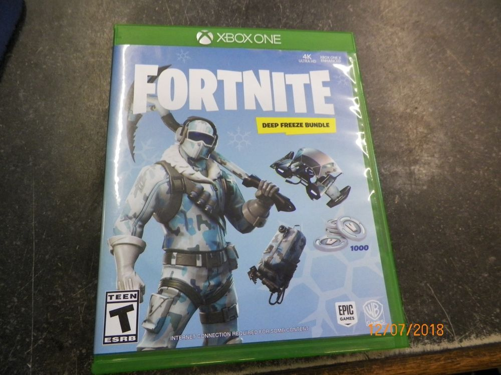 Xbox One Fortnite Deep Freeze Bundle Disc Only No Code Fortnite