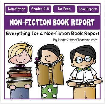 Book Reports - Non-fiction Book Reports - Students will love this Non-fiction Book Report Project!Book Reports are a great way to encourage student reading! This non-fiction book report project and rubric is a creative and fun way for students to showcase a non-fiction book they loved!