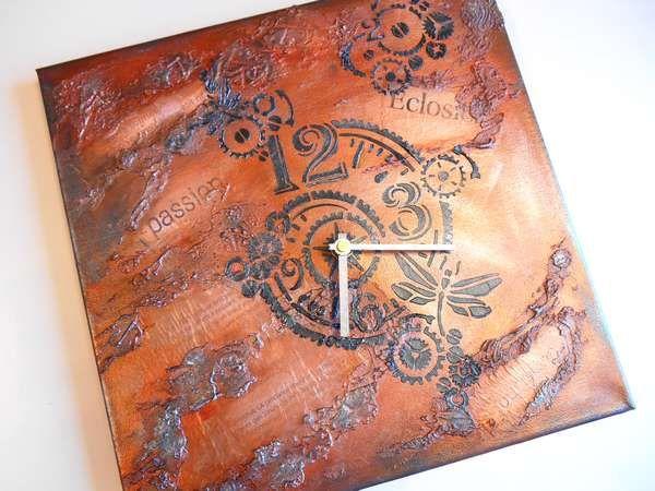 Inka Gold Horloge Style Industriel Fabriquez Un Tableau Horloge En