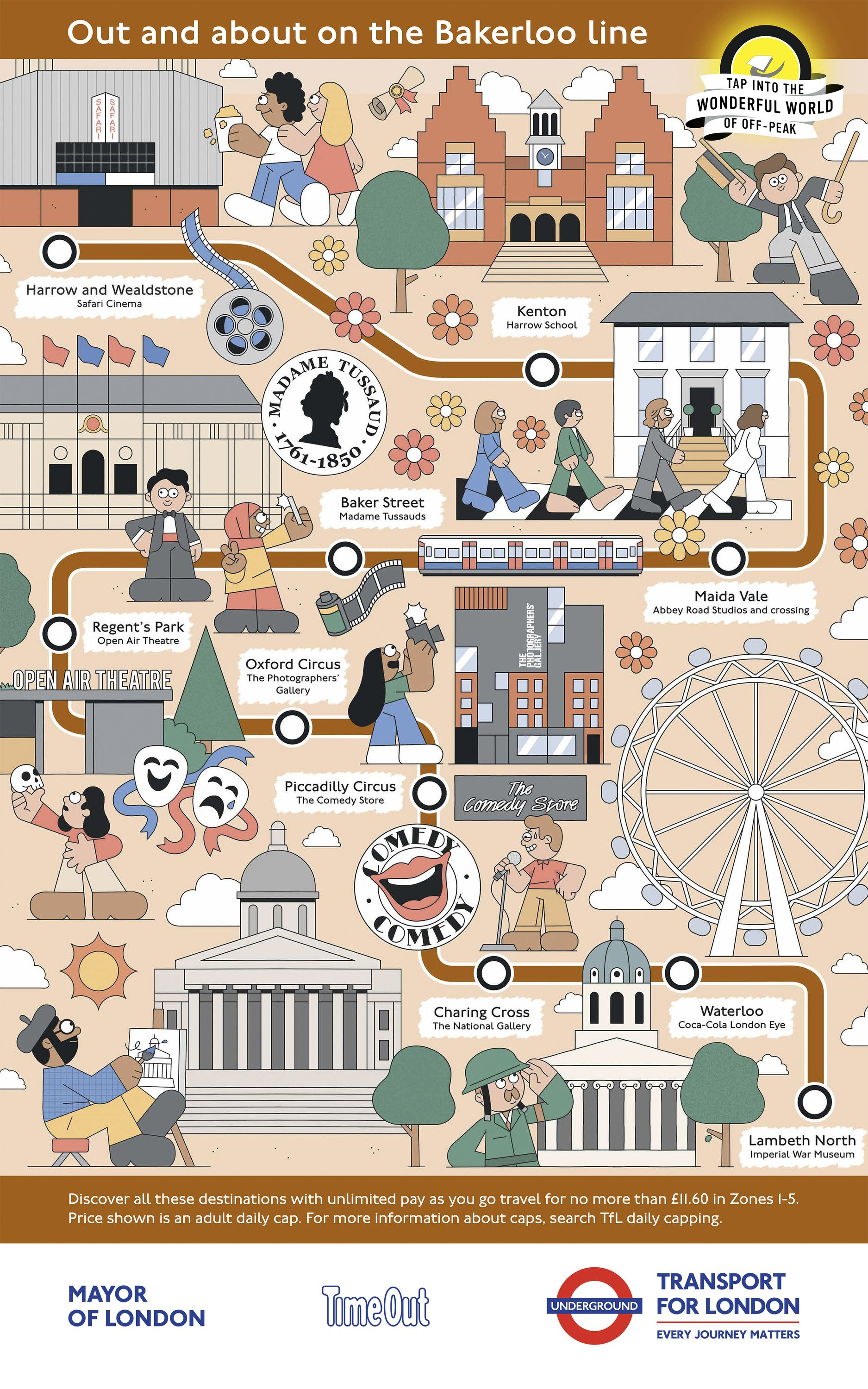 The Tube Map Is Great But Wouldn T It Be Even Greater If You Could Just Click On A Station And Discover What S Wonders Of The World London Map Illustrated Map
