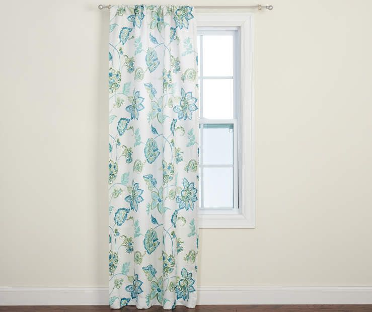 Just Home Sylvia Blue Floral Curtain Panel 84 At Big Lots Blue Floral Curtains Floral Curtains Panel Curtains