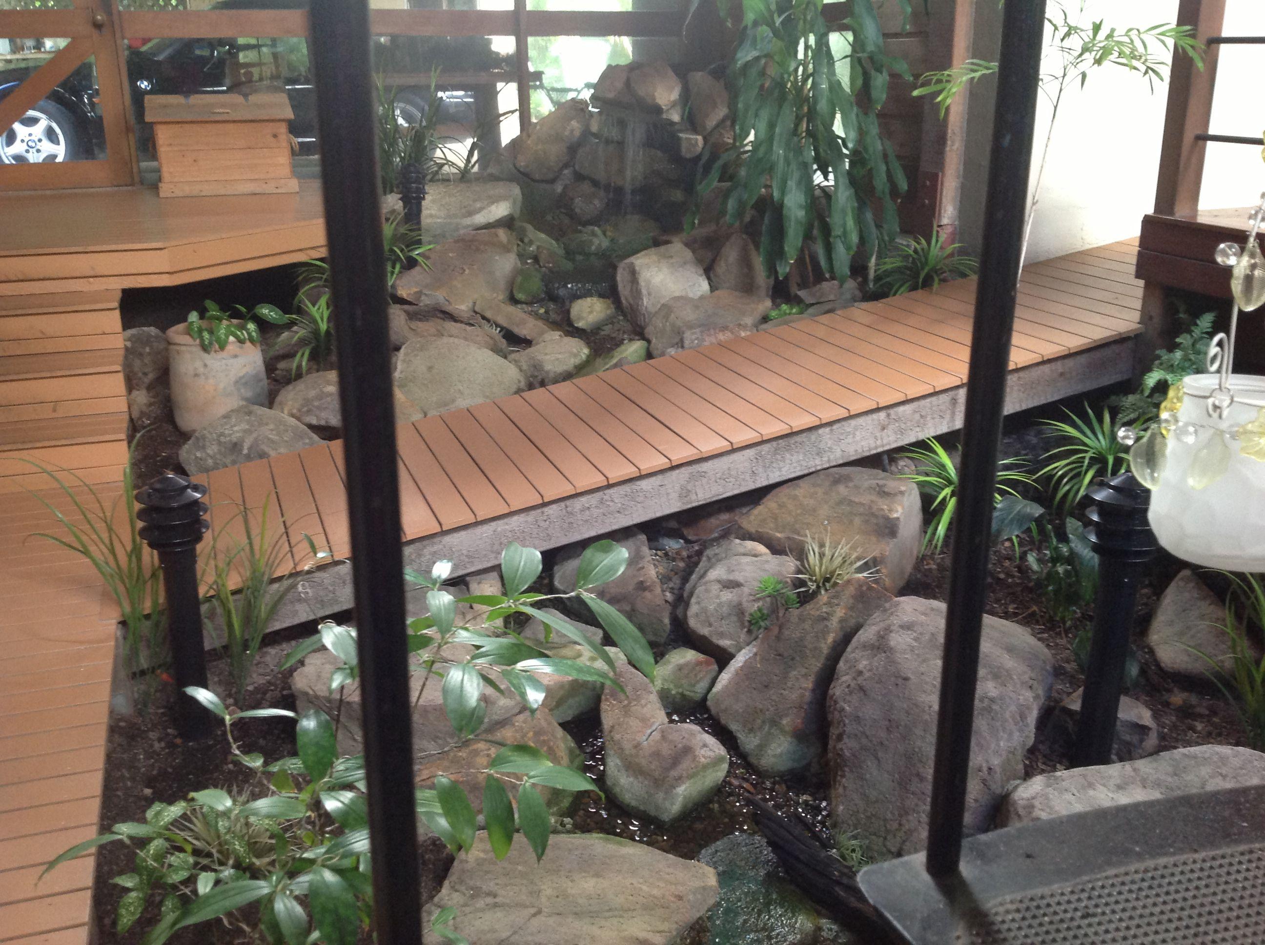 Indoor Garden With Waterfall Indoor Waterfall Indoor Plants Indoor Garden