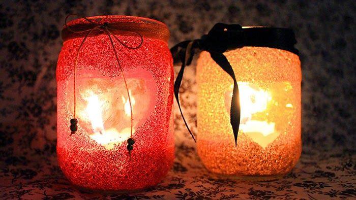 Namorada Criativa: Suporte para Velas com Glitter - Noite Romântica