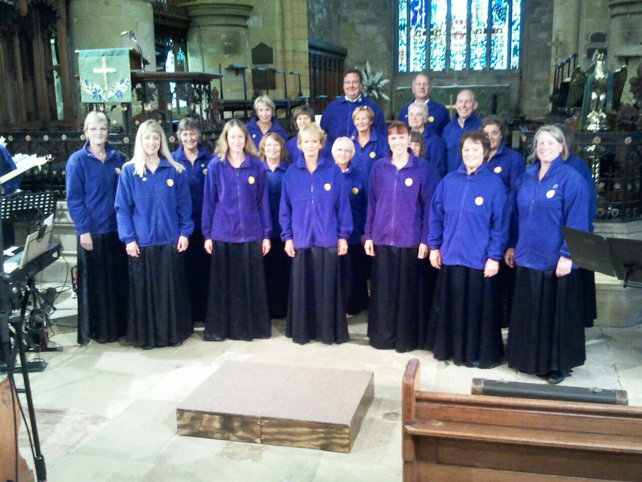 Choir Line Up And Warm Up On Tour