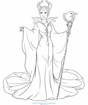 MALEFICENT: Coloring and Activity Pages