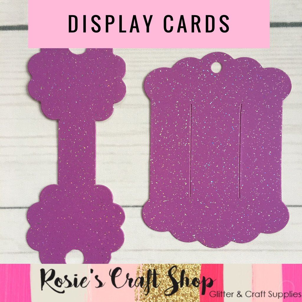 Bobble/Necklace & Hair Bow Display Card Die Compatible with Sizzix ...