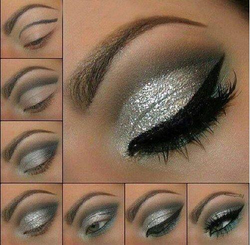 22 Augen Make-up Ideen für braune Augen - Mode, Schmuck, Make-up, Schuhe, Tattoo Modelle #glittereyemakeup