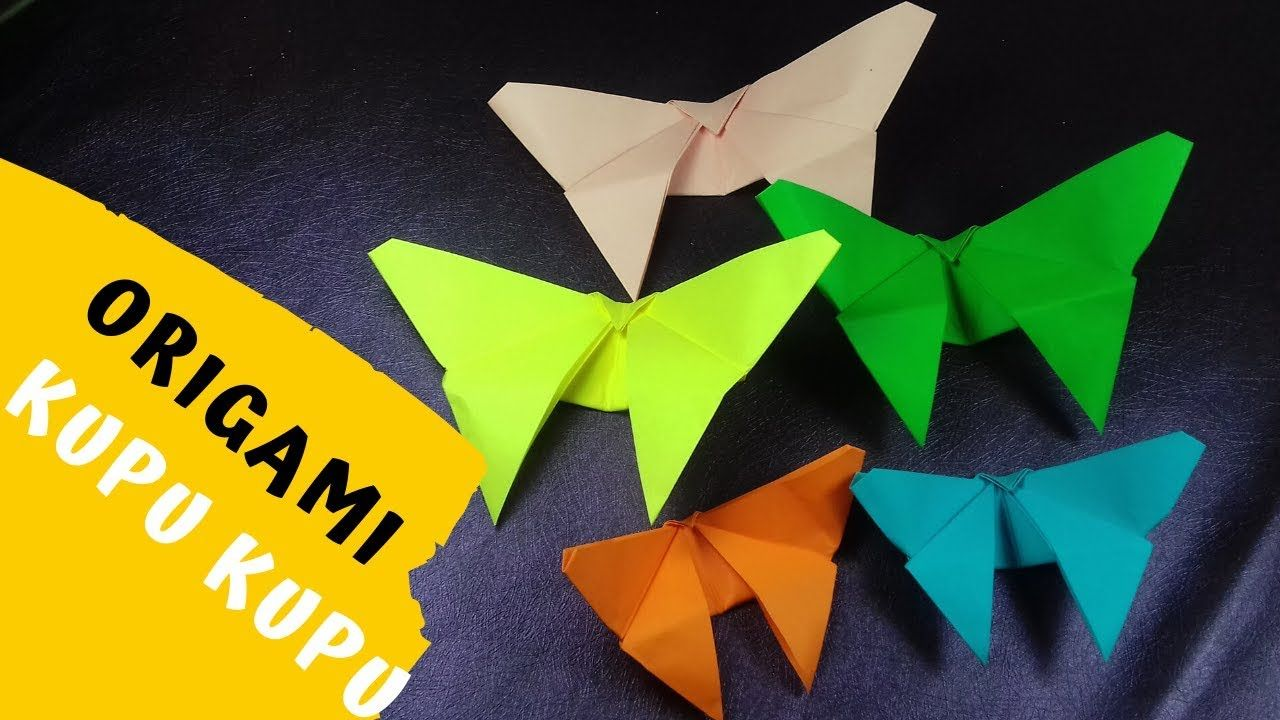 New Video By Slowmom On Youtube Origami Mainan Kupu Kupu