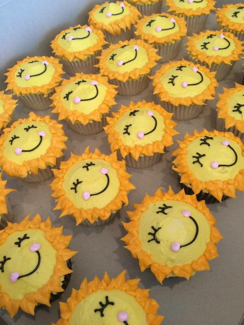 You Are My Sunshine Cupcakes Sunshine Cupcakes Baby Shower