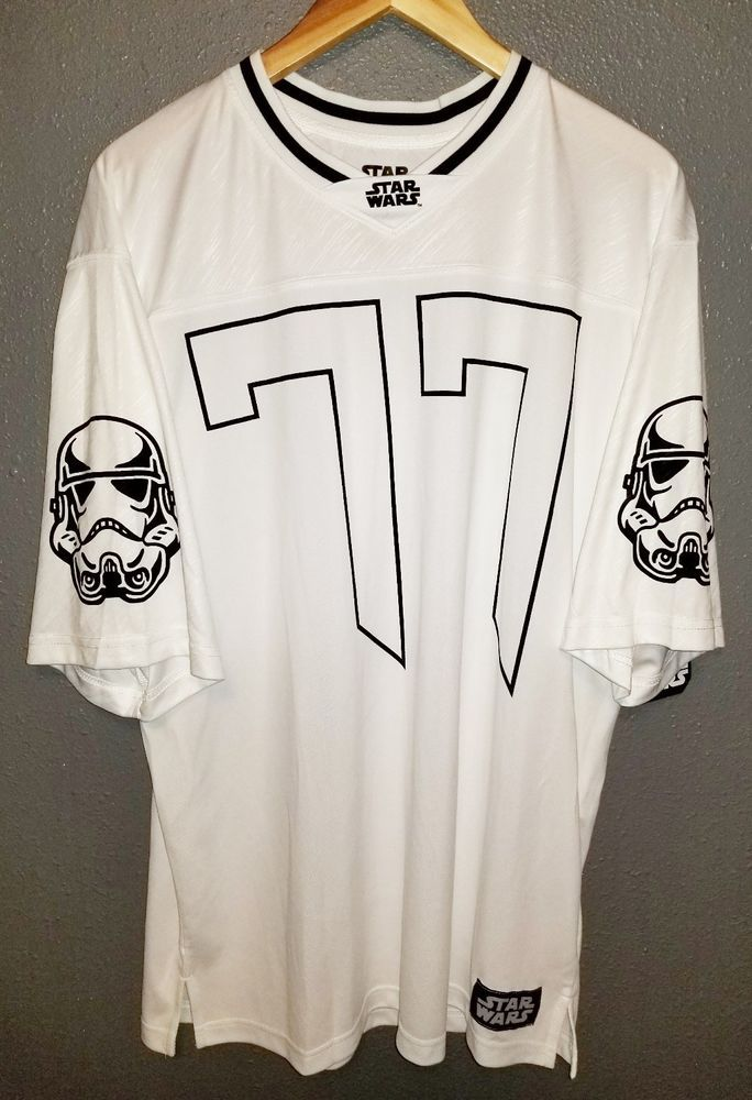 Star Wars Storm Trooper 77 Size Large Football Style Jersey Lucasfilm Ltd  A03  4d6946e52