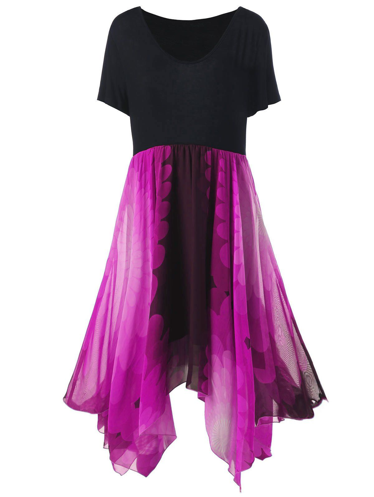 Plus Size High Waist Handkerchief Dress Handkerchief Dress