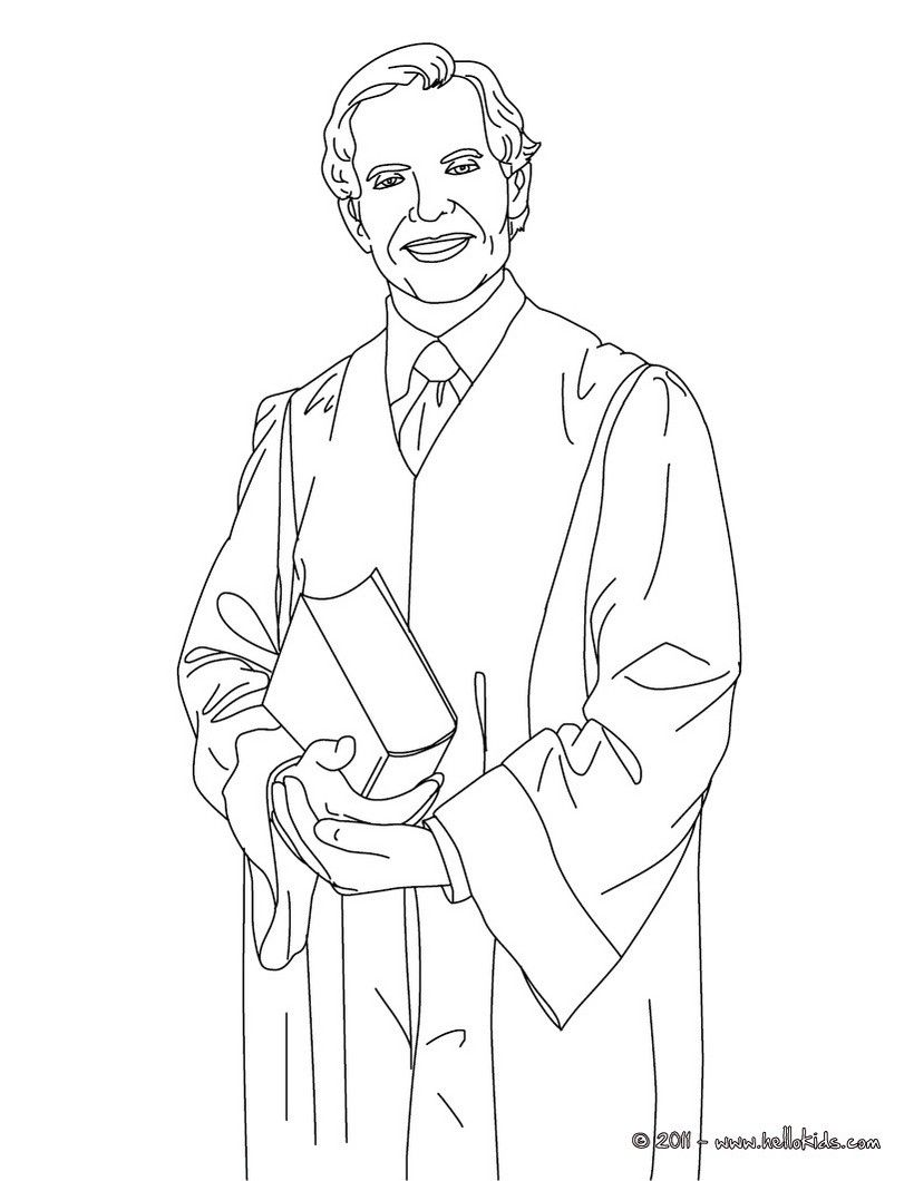 Coloring pages for restaurants - Do You Like This Attorney Coloring Page There Are Many Others In Lawyer Coloring Pages