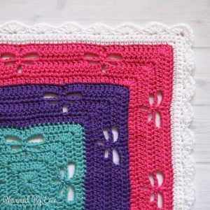 """This 40"""" x40""""Dragaonfly Crochet Throw is described as easy by it's creator, at Charmed by Ewe.  It's only $2 at Ravelry."""