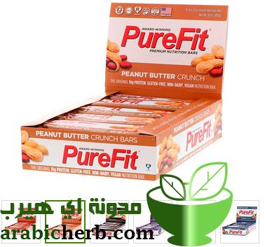 مكمل غذائي بار بروتين بيور فيت من اي هيرب مدونة اي هيرب بالعربي Peanut Butter Crunch Crunch Bar Nutrition Bars