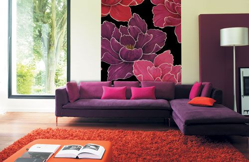 Purple Is An Intense Color It Can Be Very Romantic Sophisticated And Regal Purple Living Room Red Living Room Decor Pink Living Room