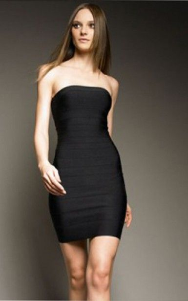 Follow me for more beautiful pins www.pinterest.com/sophiemoyers | #herve ·  Strapless Black DressesShort Sleeve ...