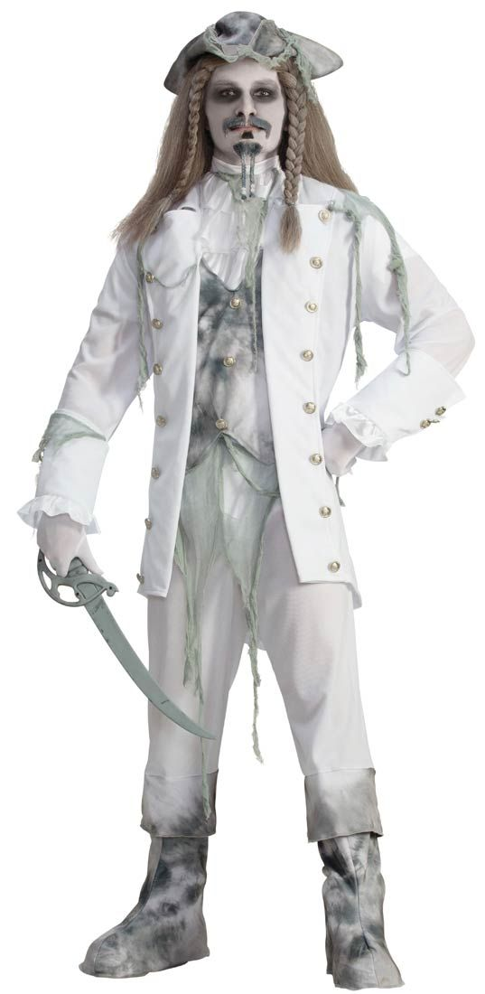 Ghost Pirate Captain Adult Costume - Pirate Costumes  sc 1 st  Pinterest & Ghost Pirate Captain Adult Costume - Pirate Costumes | Pirate ...