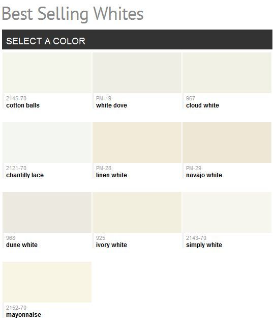 Best selling benjamin moore whites home inspiration for Top selling neutral paint colors