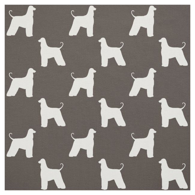 Afghan Hound Silhouettes Pattern Fabric #afghan #hound #afghan #hound #dog #Fabric