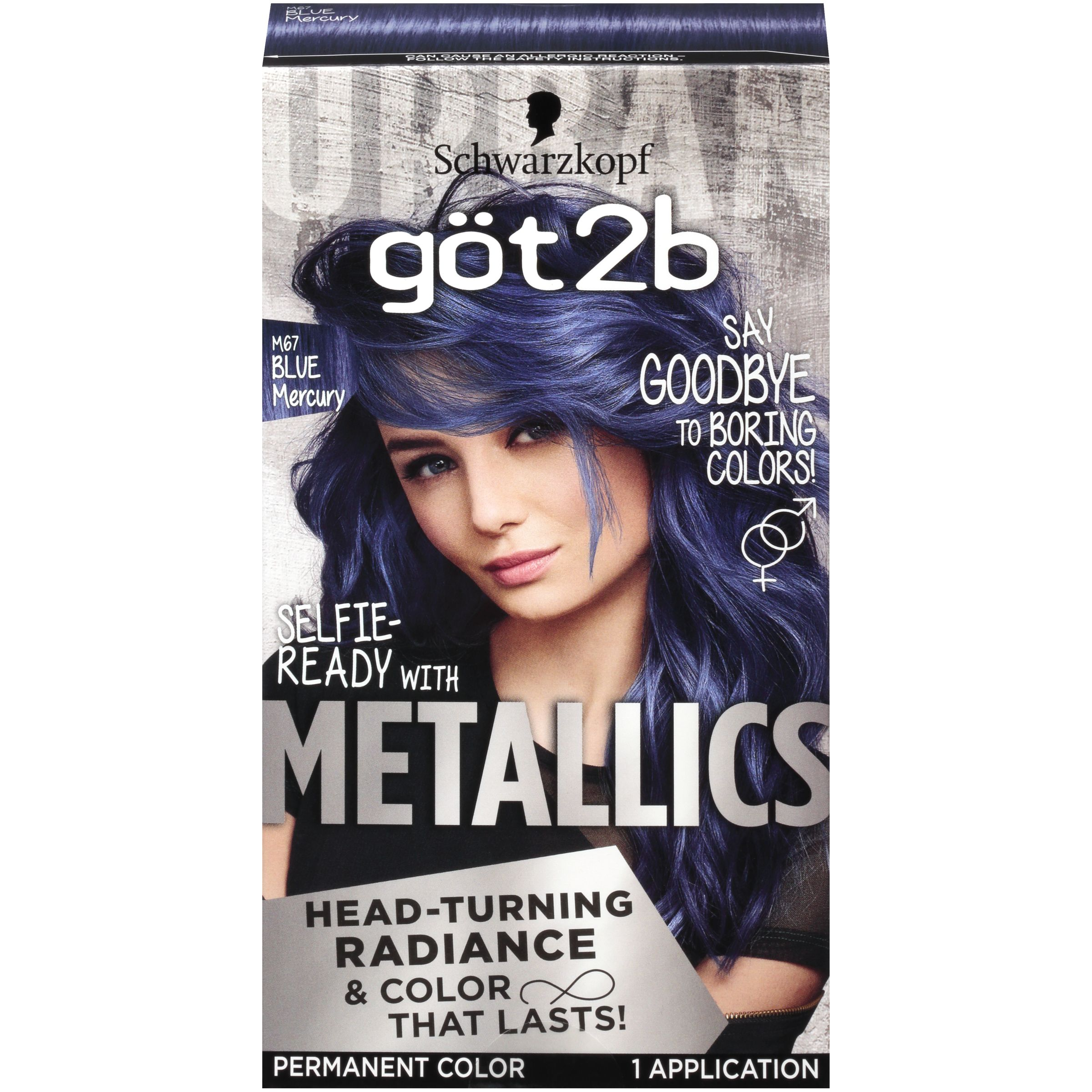 Got2b Metallic Permanent Hair Color M71 Metallic Silver Permanent