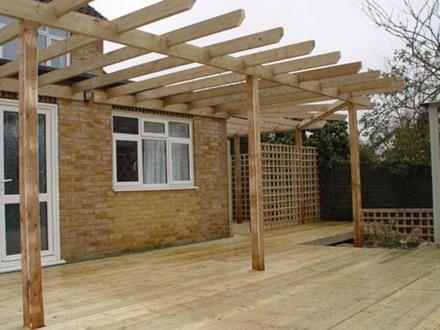 Cobertizos p rgolas y terrazas de madera santiago for Accesorios para terrazas