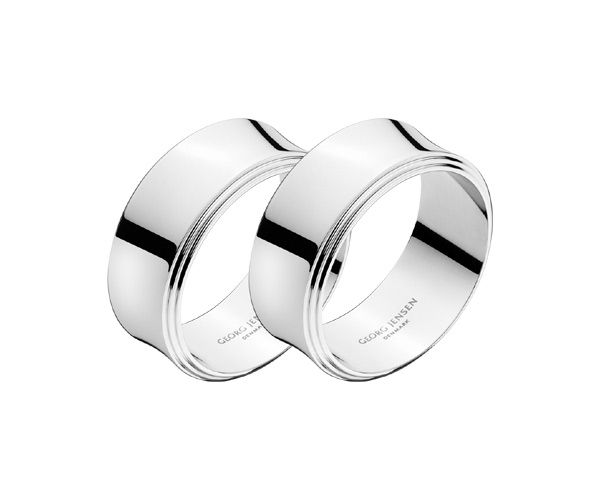 Georg Jensen Napkin Rings - £40 for a pair. http://www.amazon.co.uk/gp/product/B00GHR3714/ref=as_li_tf_tl?ie=UTF8&tag=sportspredict-21&camp=1634&creative=6738&creativeASIN=B00GHR3714&linkCode=as2