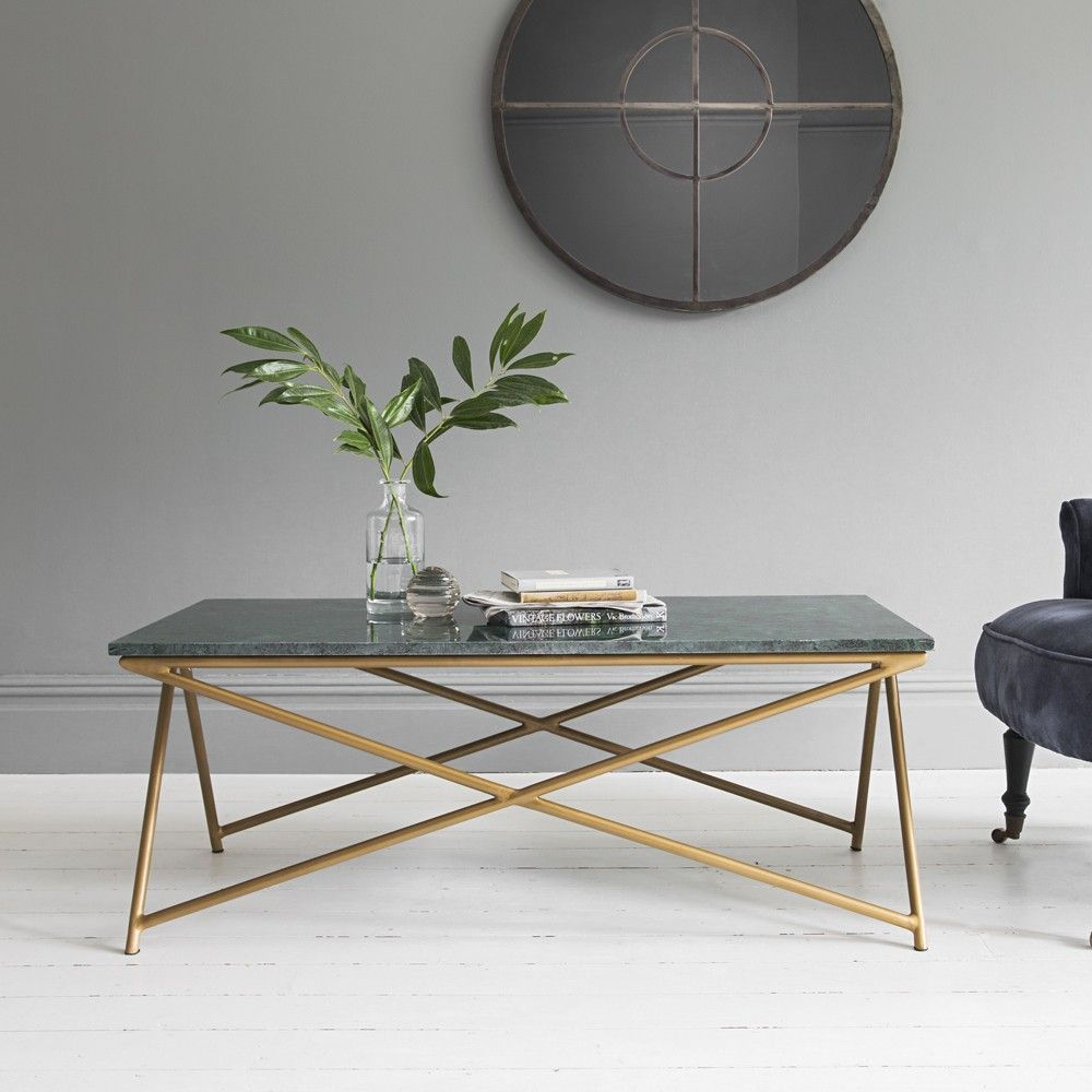 Klein Marble Coffee Table: Stellar Green Marble Coffee Table - Due Oct 24th