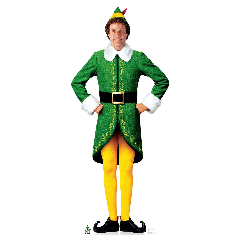 Elf Movie Elf Cardboard Stand Up Buddy The Elf Costume Elf Movie Buddy The Elf