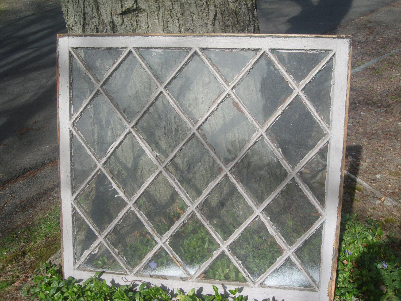 Clearance Sale Antique Large Diamond Window Old Window With Antiques Diamond Shapes Windows