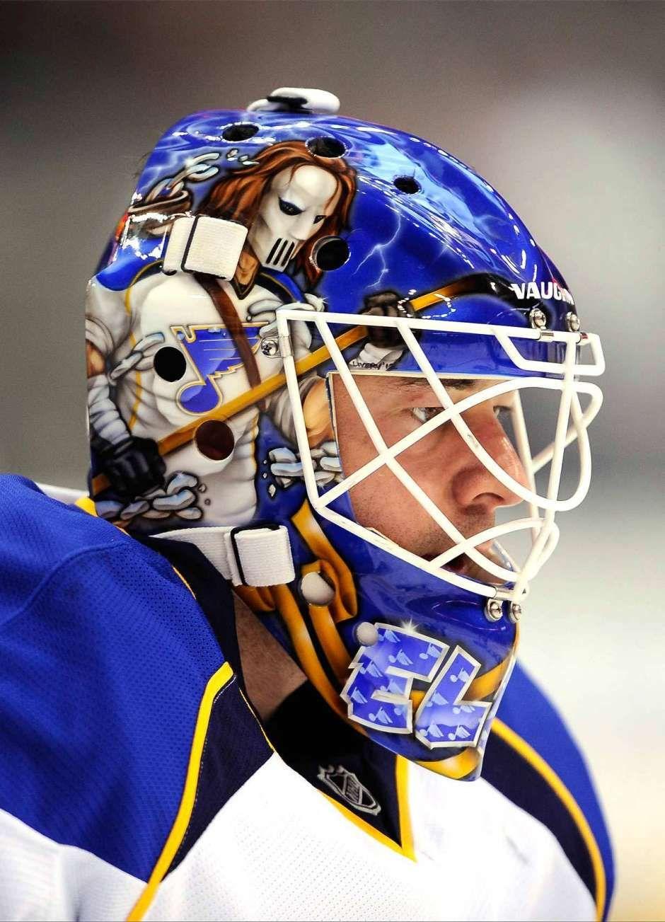 Best Goalie Masks Of 2013 Nhl Season Goalie Mask St Louis Blues Hockey Goalie
