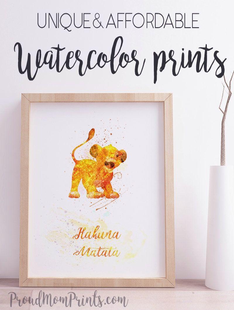 wall art Hakuna Matata print quote poster gift picture disney Lion King