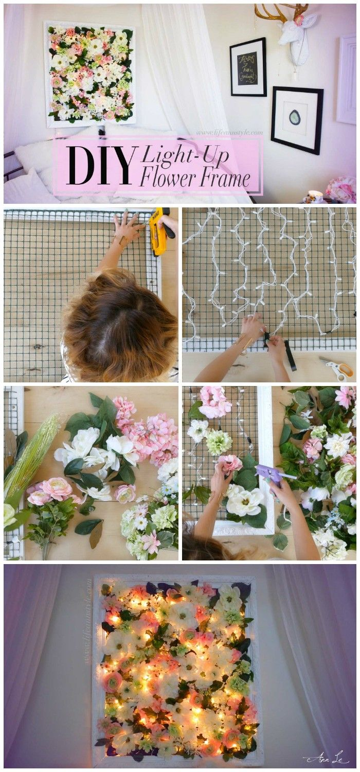 Cheap DIY Projects For Your Home Decoration | Flower frame, Diy ...