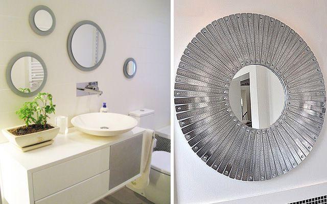 Diy decoraci n de marcos para espejos redondos espejos for Decoracion de pared con espejos redondos