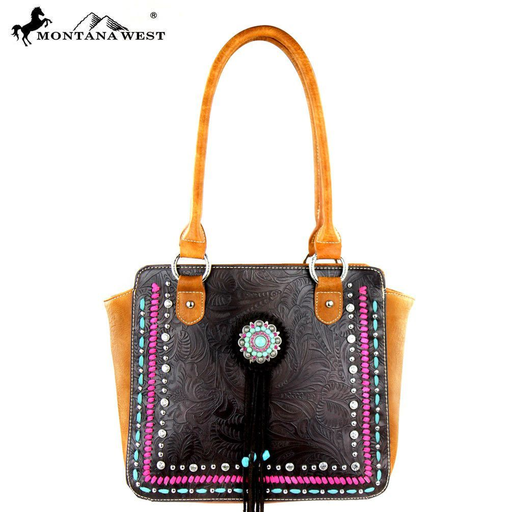 MW305-8393 Montana West Concho Collection Totel Bag