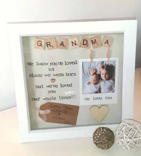 GRANDMA PERSONALISED FRAME PICTURE GIFT NANA MOTHERS DAY BIRTHDAY CHRISTMAS