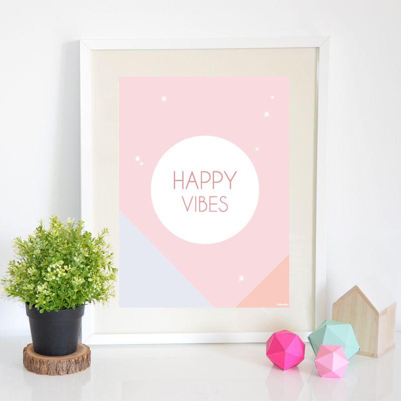 Petite Mila | Affiche Happy Vibes (A3)