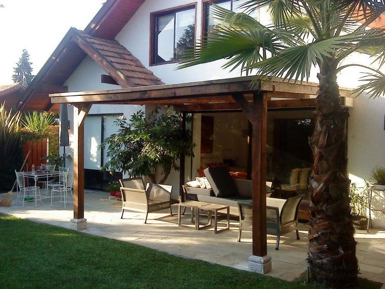 Pérgolas jardines terrazas con estilo muy modernas - terrazas en madera