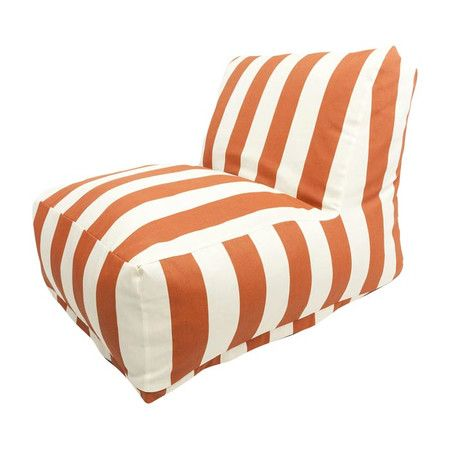 Showcasing bold stripes in burnt orange, this stylish beanbag chair is perfect for soaking up some sun by the pool or relaxing with an apres-work cocktail in...