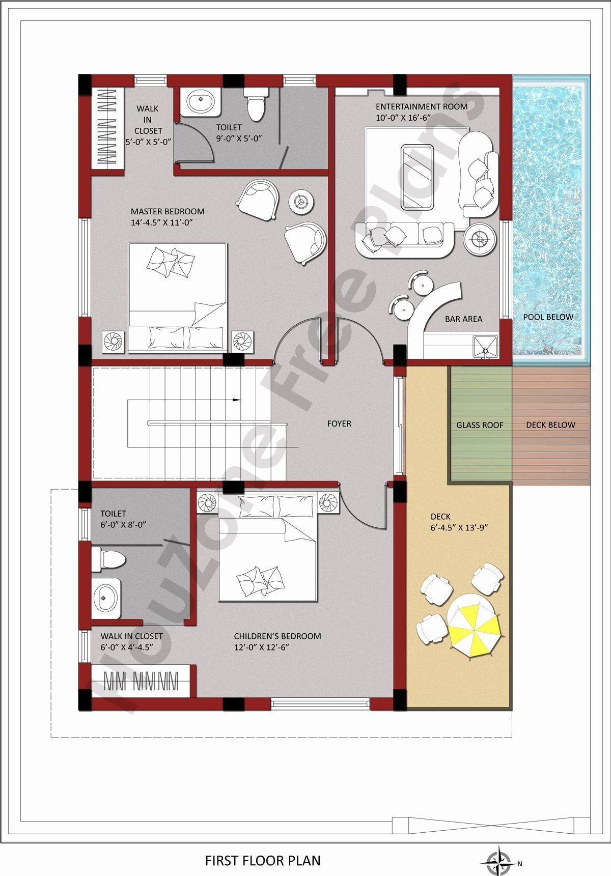 Home Design 200 Sq Yard Best Of 3 Bedroom Duplex House With Swimming Pool In 200 Sq Yards Pool House Plans House Plans Custom Design House Plans