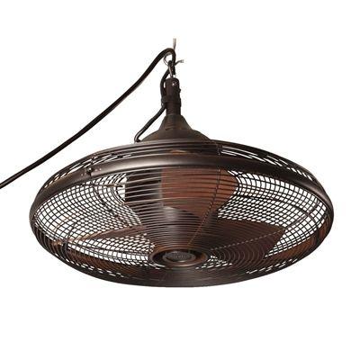 Allen Roth Valdosta 20 In Oil Rubbed Bronze Downrod Mount Indoor Outdoor Portable Ceiling Fan Outdoor Fan Outdoor Ceiling Fans Bronze Ceiling Fan
