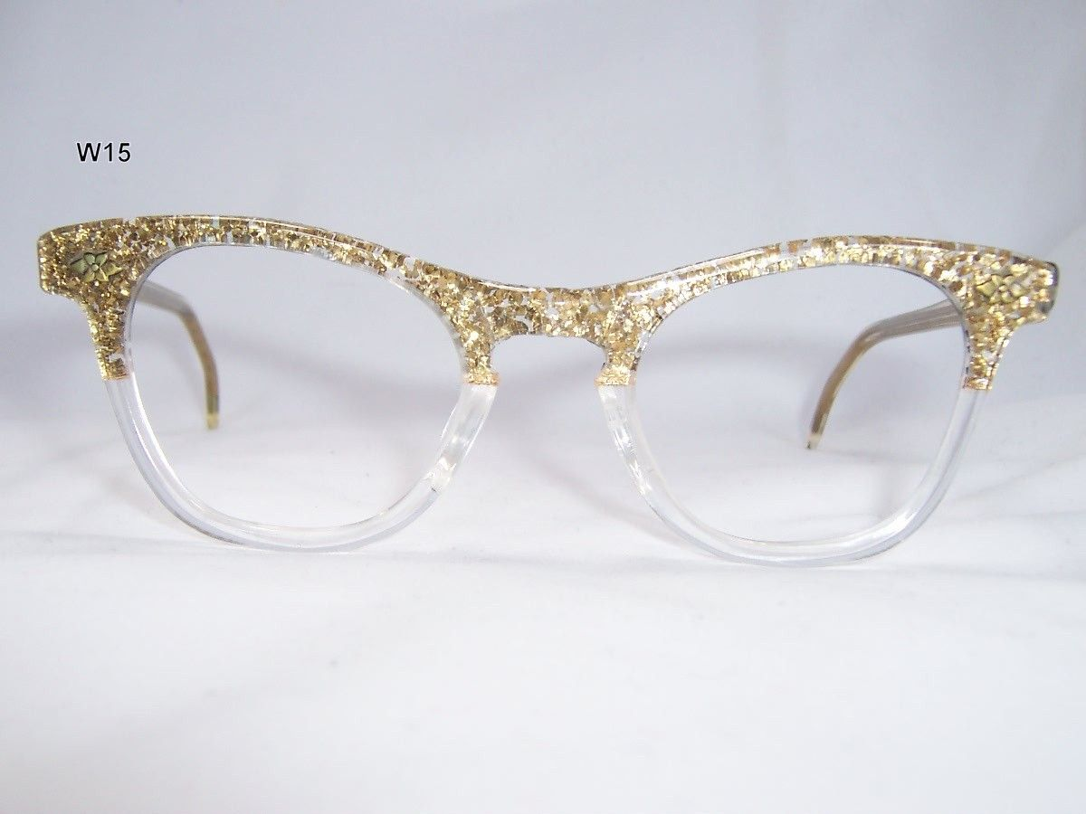 41553dc68a8 Fancy two tone 1950 s Cat Eye Glasses - Vintage Glasses - Dead Men s Spex