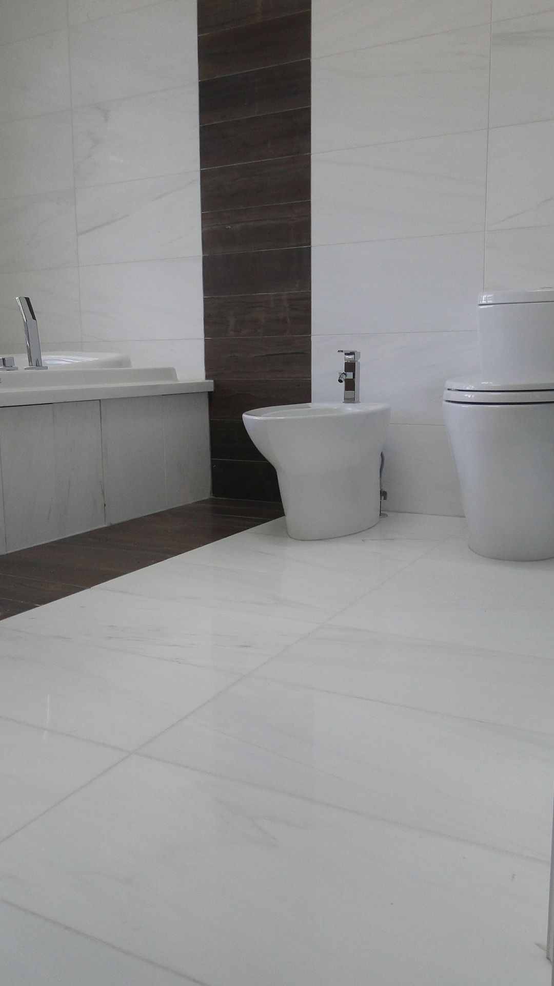 truffle veincut honed limestone and govana dolomite marble tile in