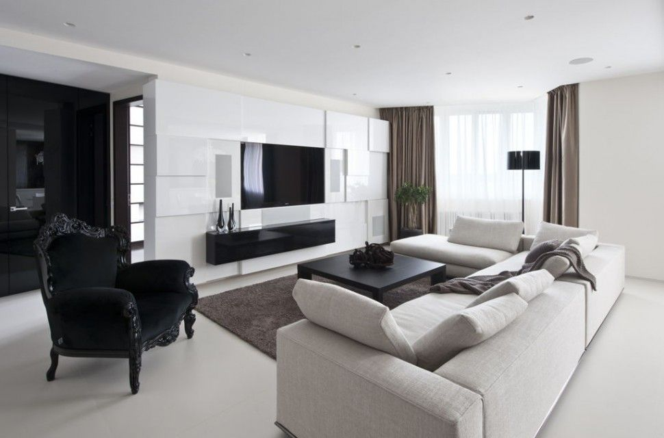 Apartments Futuristic Apartment Living Room Design With L Shape