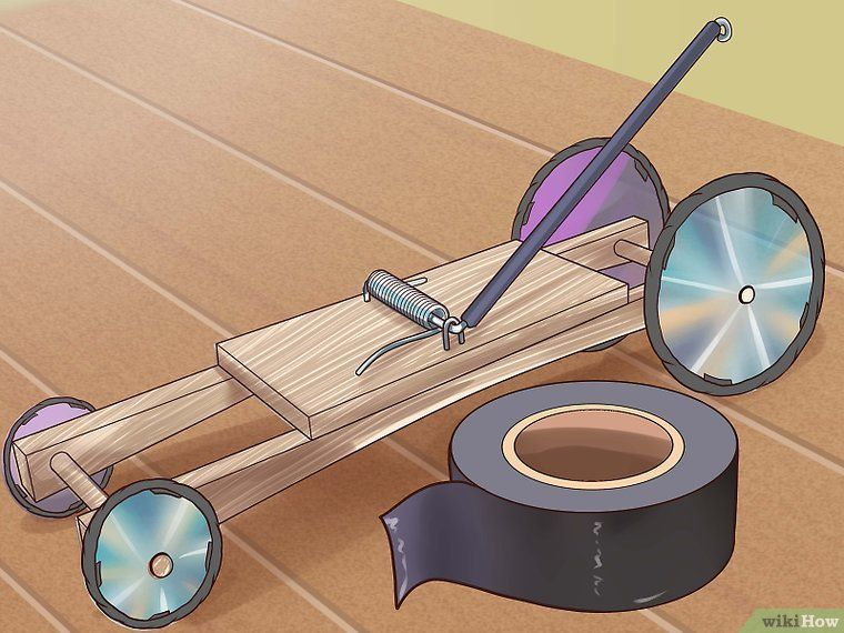 3 Easy Ways To Adapt A Mousetrap Car For Distance Wikihow Mouse