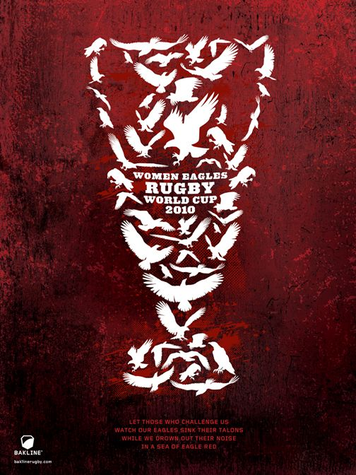 Women Eagles Rugby World Cup Poster (2010) #rugby #design #women #womenrugby #wnt #bakline