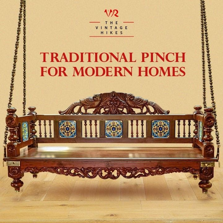 Traditional Pinch For Modern Homes In 2020 Wooden Swings Traditional Living Room Furniture Wood Swing #wooden #swing #for #living #room #india