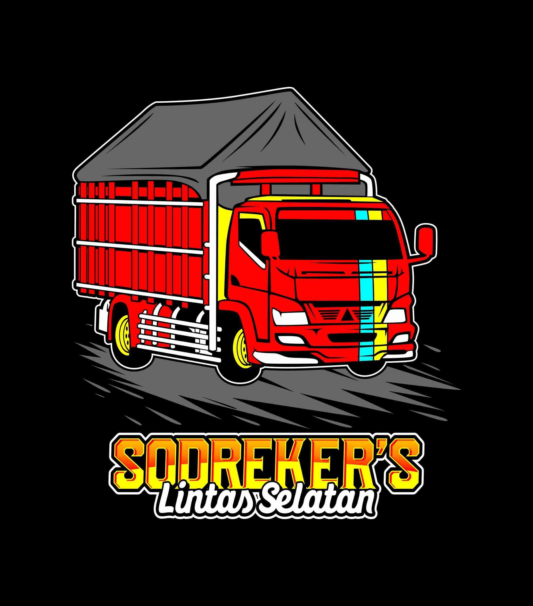 Truk Vector Sodrekers Lintas Selatan Desain Logo Desain Modifikasi Mobil