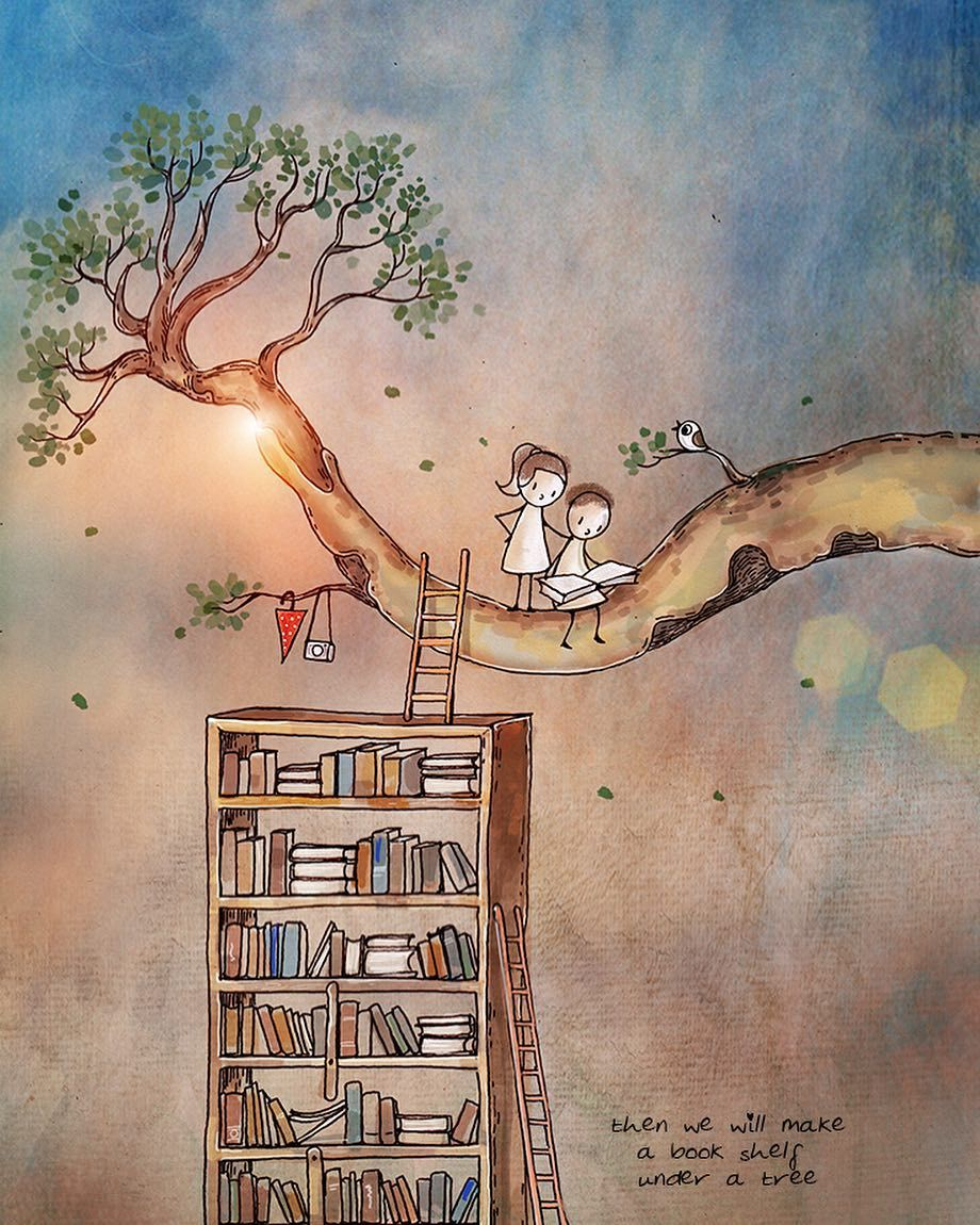 Then We Will Make A Bookshelf Under A Tree Unpostedletters
