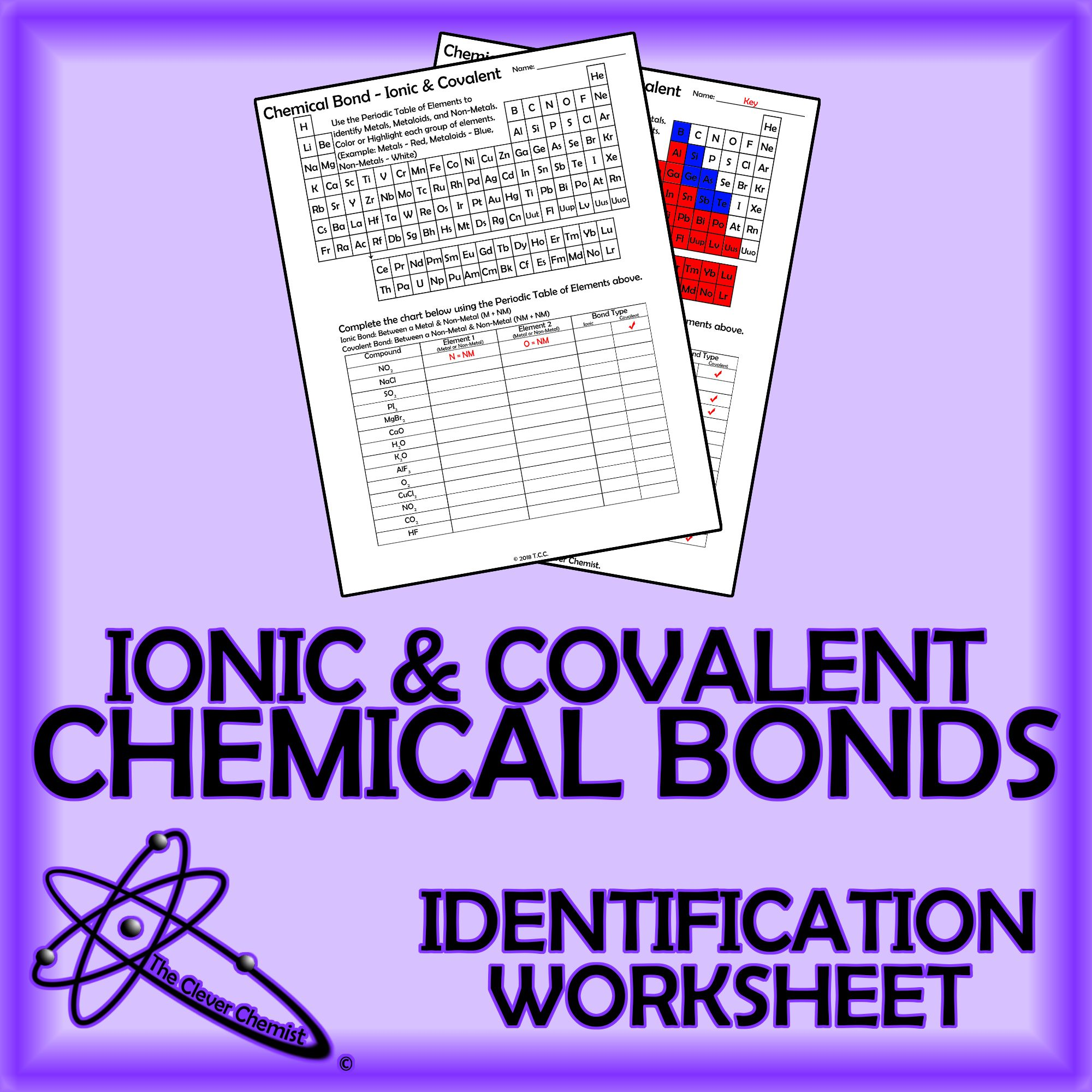 This Is A One Page Worksheet Covering Identification Of Metals Metaloids And Non Metals On The Peri Covalent Bonding Covalent Bonding Worksheet Chemical Bond